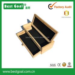 Bestgoal wooden pencil box Multifunctional School Pencil Holder Pen Case Vintage Wood Box