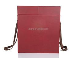 Custom Embossed Logo PU Jewelry Gift Box Genuine Leather Jewelry Gift Box