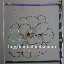 flower laser profile hot PVC transfer film for wall panel