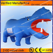 new animal style big inflatable hippo advertising model