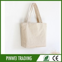 blank canvas wholesale tote bags/custom plain white cotton canvas tote bag