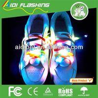 Light Up LED Flashing Silicone Rubber Shoelaces