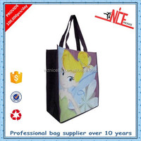 Wenzhou factory supplier 2d cartoon pp woven shopping bag