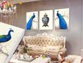 Casa moderna arte da parede da lona impressão pavão pintura decorativa