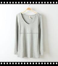 Custom Your Design Cotton T-Shirt Woman Blank Long Sleeve Tee Wholesale