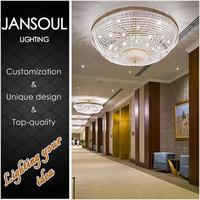 vintage unusual big hot sale modern round crystal hotel chandelier lighting for sale