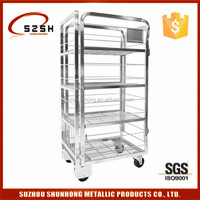 Milk transport Roll Trolley for dairy products