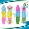 22 Inch three 3 colored fade penny retro plastic skateboard