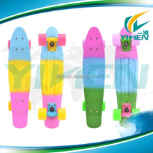 22 Inch three 3 colored fade penny retro plastic skateboard