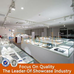 popular mdf jewelry retail shop furniture jewelry store with LED light