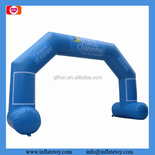 Printing light blue inflatable advertising arch portable event entrance arch for promotion