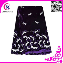 Fashion african fabric lace for big wedding/party CCL-00A super soft velvet lace for garments/dress