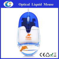Best Selling Wired Optical Mouse with Liquid and Floater Inside