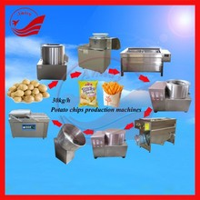 output 30-300 kg/h electric potato chips making machine frozen french fries production line