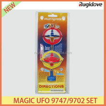 Flashing magic UFO 9747/9702 set plastic spinning top with music