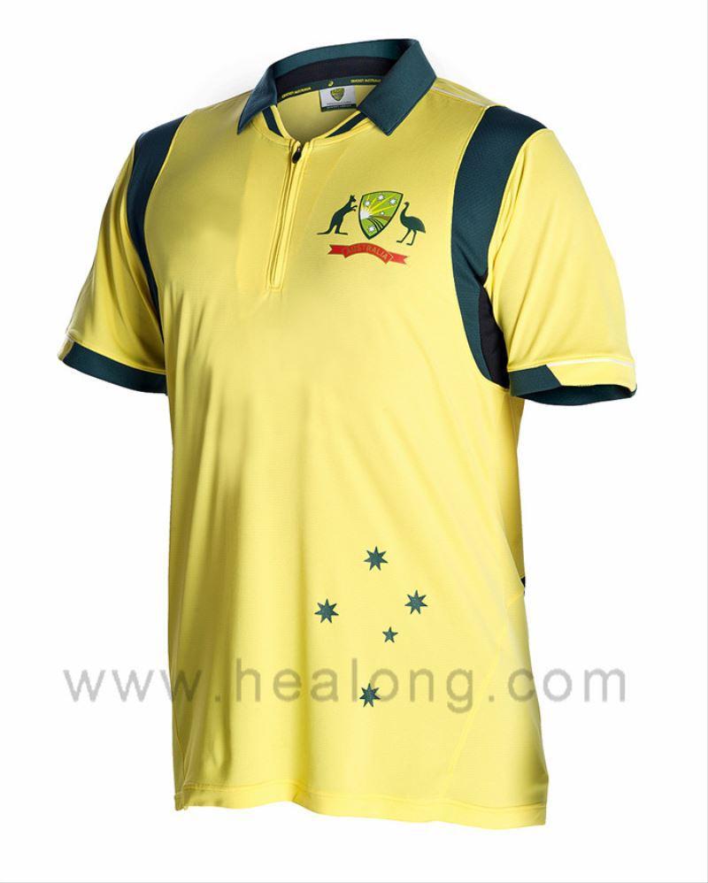 Healongsport Digital Print Sport T Shirts Cricket Cut And
