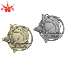 Custom metal basketball medal star