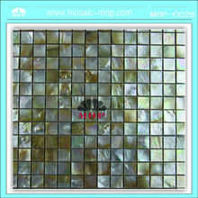 MOP 20*20mm yellow lip shell mosaic tiles decoration material for wall