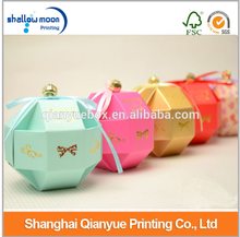 New favor design Polygon Candy box with Bell