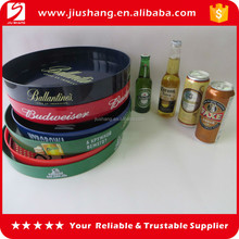 Round PS plastic bar serving tray