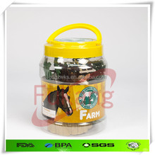 3.5 Liter plastic toy gift jar with lid,clear gift jar with custom label printing,clear PET plastic child's toy gift round jar
