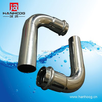 ANSI stainless steel cross joint pipe fitting elbow 90E/B