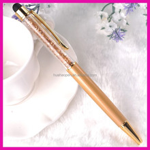 Wholesale slim stylus touch screen pen hot pink pen metal twist up pen with logo
