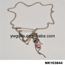 vintage black empty cup chain necklace long chain necklace