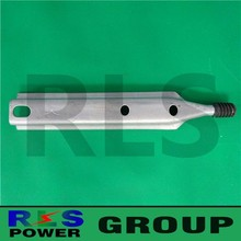 Drop-forged hot dip galvanized steel pole line hardware insulator pole top pin