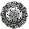 Antique Silver Scalloped Floral Conchos