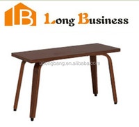 High gloss walnut veneer modern small suqare coffee table