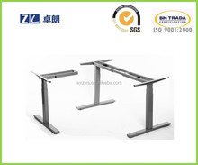 three motor height adjustable desk with three leg