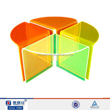 2015 Color crystal acrylic dining table acrylic chair,removable round colorful acrylic chair for office leisure Time