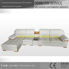 Customized hot sell updated bonded leather sofa set