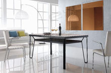 Classicism Glass & Metal Dinning Table, Dining Room Furniture (DA624)