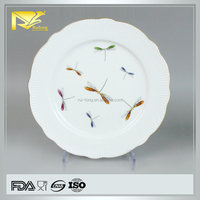 china supplier dragonfly porcelain plate, print plate, plate fruit