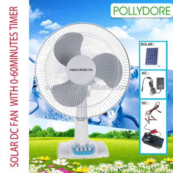 Dc 12v solar powered table fan solar fan with timer for 12v dc table fan price