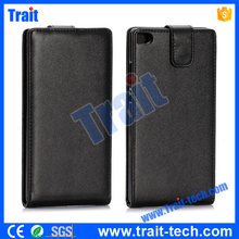 2015 Wholesale bulk buy phone case for huawei p8 case cover ,Vertical Flip Leather Hard PC Black Case for HuaWei Ascend P8