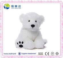 Pure White Wild Animal Plush Polar Bear Toy for Sale