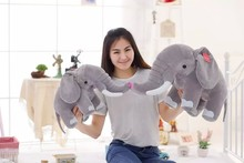 promotional Custom cute grey plush elephant doll and 10 inches stuffed elephant with design logo