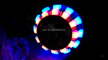 K14 Angel eyes Led Colorful halo Motorcycle headlight with projector lens