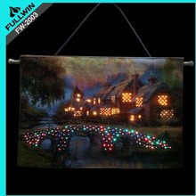 Christmas flashing wall decoration tapestry
