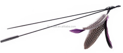 natural feather da bird cat toy, cat wand