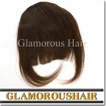 2015 factory price hot sale black hair bangs !!! clip natural hair bangs ,double weft full cuticle human hair bang