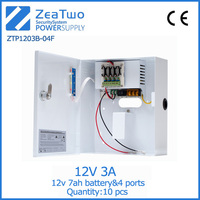 12v dc regulated power supply 12v 3a cctv camera box-type 12 v power supply with backup
