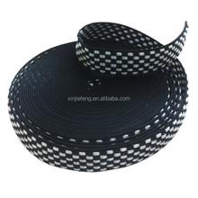 Customized Jacquard white/black Polyester Belt