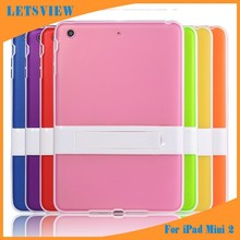 LETSVIEW Super Slim Ultra-Thin Luxury Fancy Screen Protective Flexible TPU Case with Stand Soft Back Cover for Ipad Mini 1 2 3