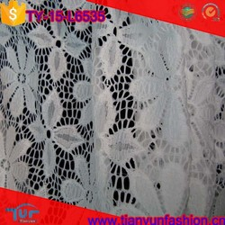 lurex stretch nylon material made dressing elegant floral lace fabric new sample