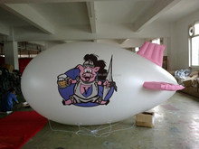 Small 4m custom inflatable PVC blimp for advertising