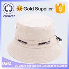 Summer Custom Made Polo Palin White Cotton Bucket Hat For Sun Protection